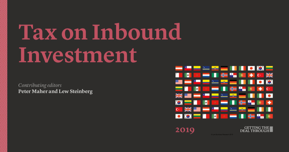 13th edition of Tax on Inbound Investment by Getting the Deal Through available